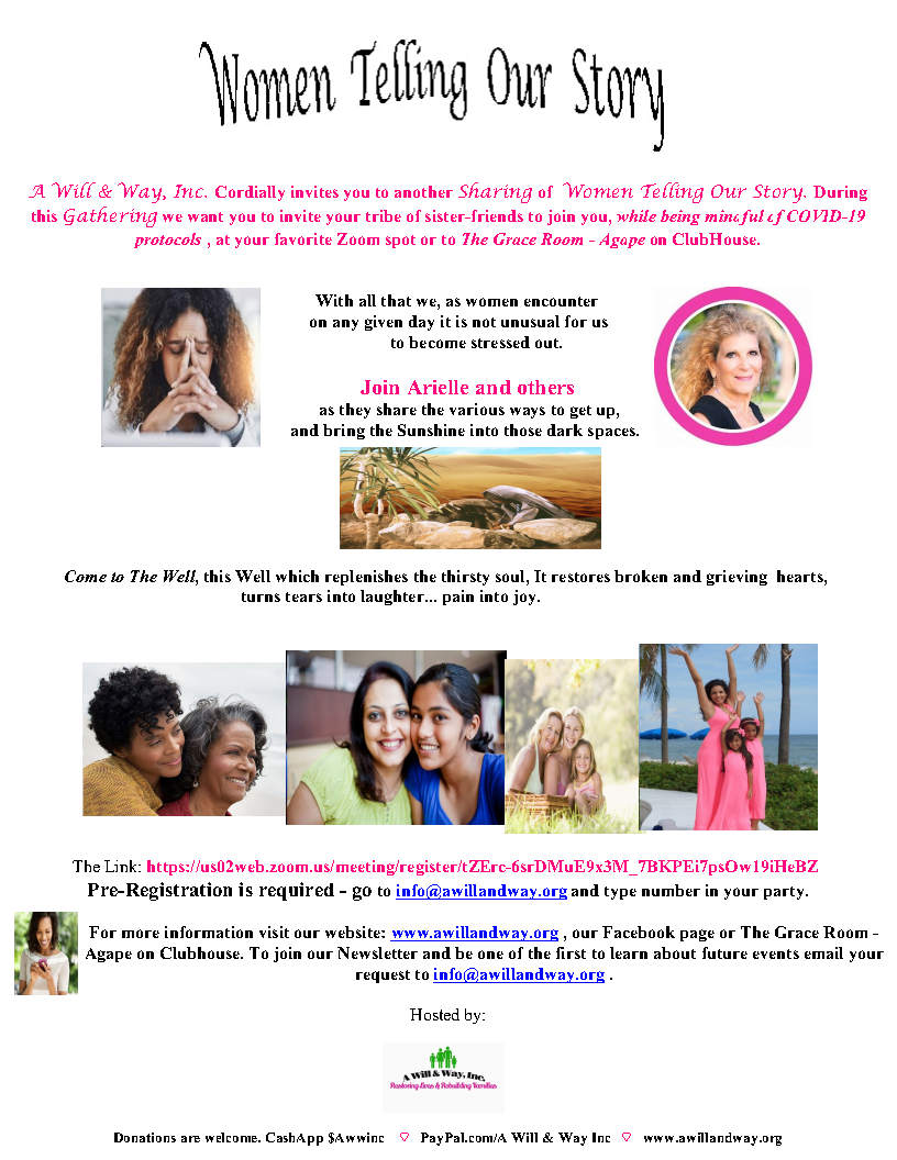 women telling our story flyer