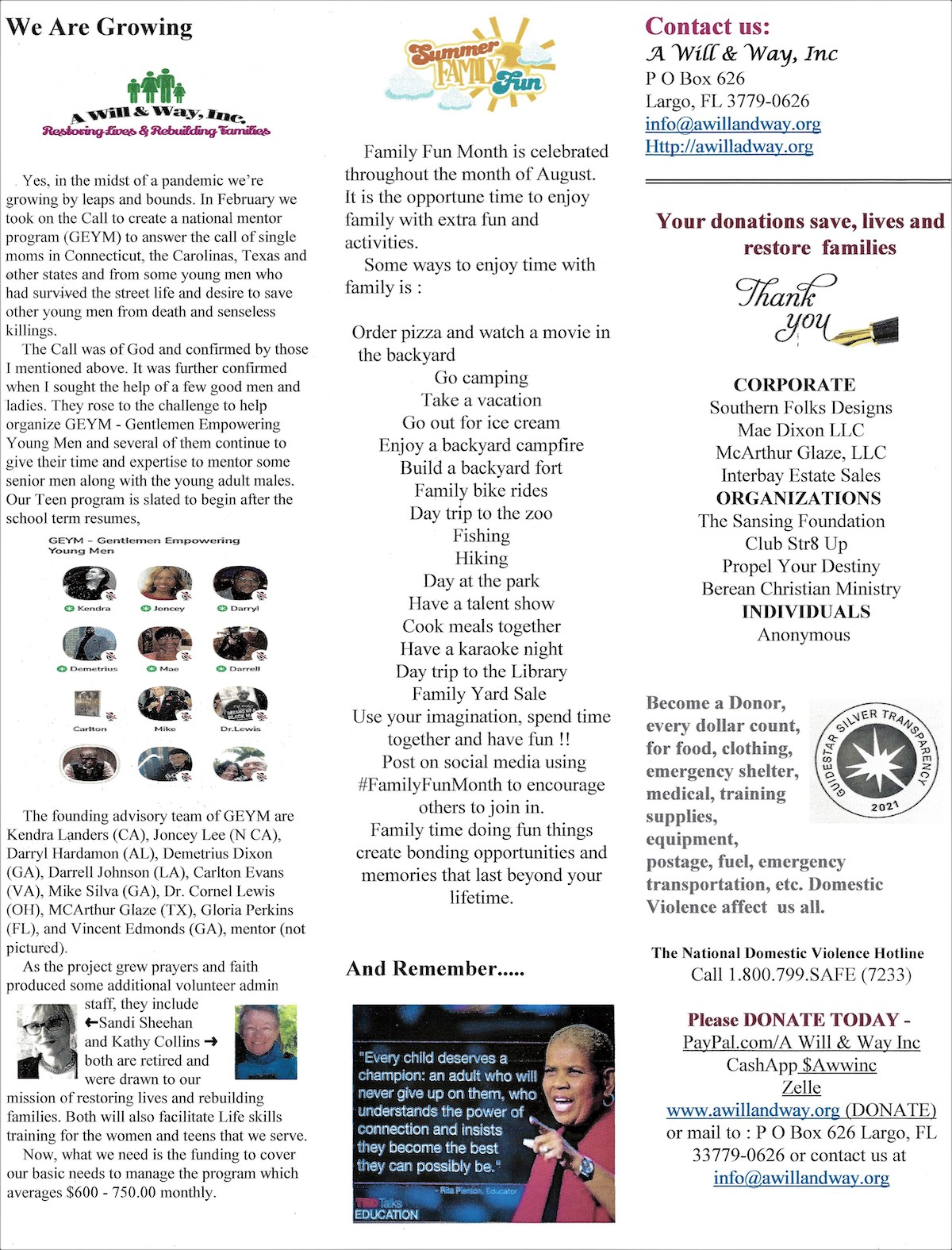 AWWI August 2021 newsletter page 2